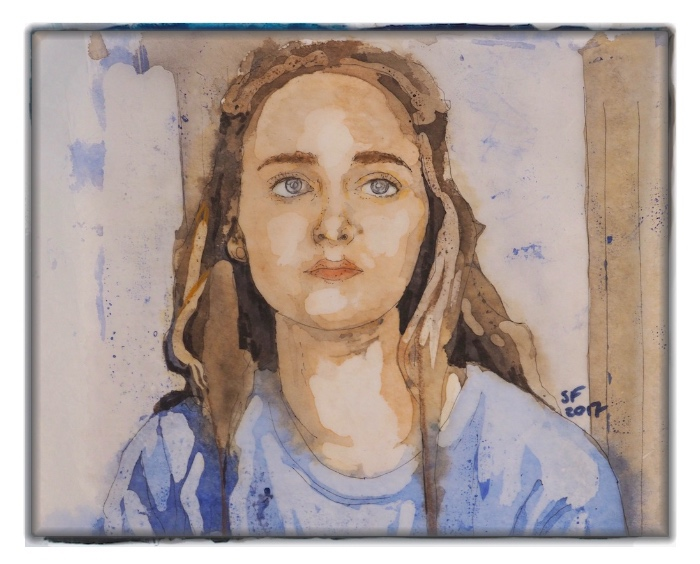 Susi Ferguson • Aquarell Batik - Portrait