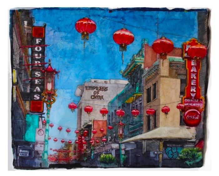 Susi Ferguson • Aquarell Batik - San Francisco